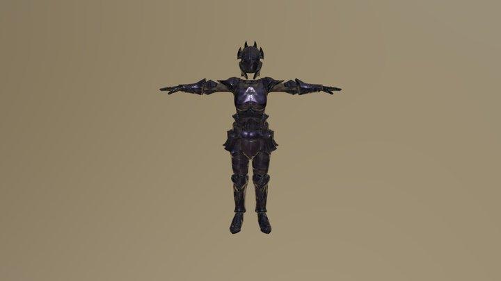 Female Obsidian Armor 3D Model