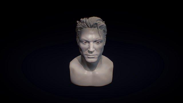 Male Bust 3D Model