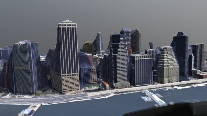 Manhattan Skyline. Google Earth Capture 3D Model