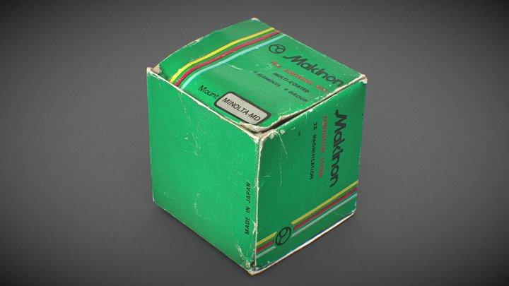 Retro Makinon lens teleconverter packaging 3D Model