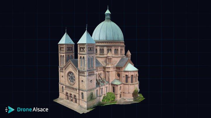 Eglise Saint-Pierre-le-Jeune - Strasbourg 3D Model