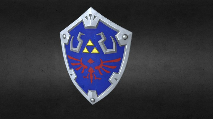 Zelda - Hyrule Shield 3D Model