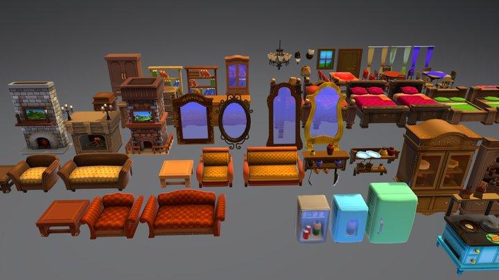 Cartoon Interior 3D Model