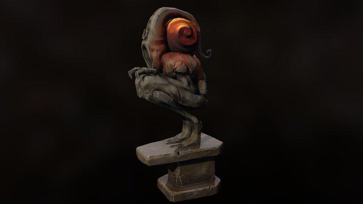 PBR Nyarlathotep Gargoyle 3D Model