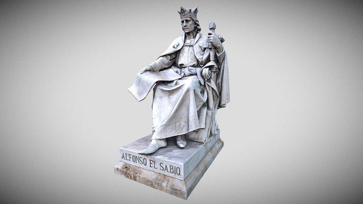 Estatua de Alfonso X  - José Alcoverro (1892) 3D Model