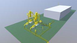 Gas-station 3D Model