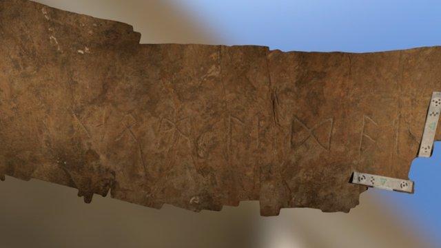 Heavener Rune Stone Inscription 3D Model