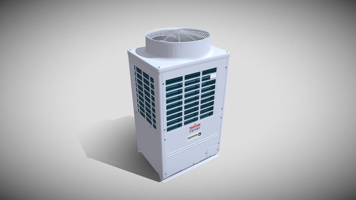 10hp Toshiba Carrier Heat Recovery Outdoor Unit 3D Model