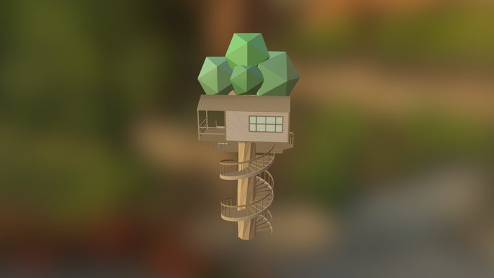 Tree House [Low Poly] 3D Model