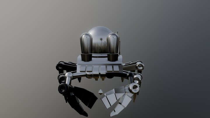 Dancing Mechanical Crab 3D Model