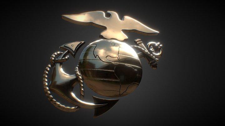 Eagle Globe Anchor 3D Model