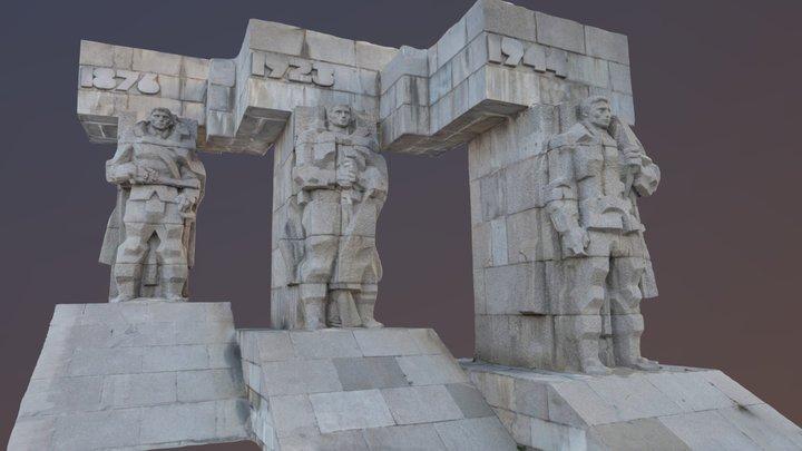 Warriors Statue 3D Model