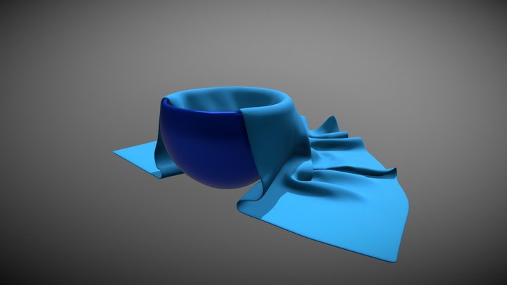 Cup with napkin 3D Model