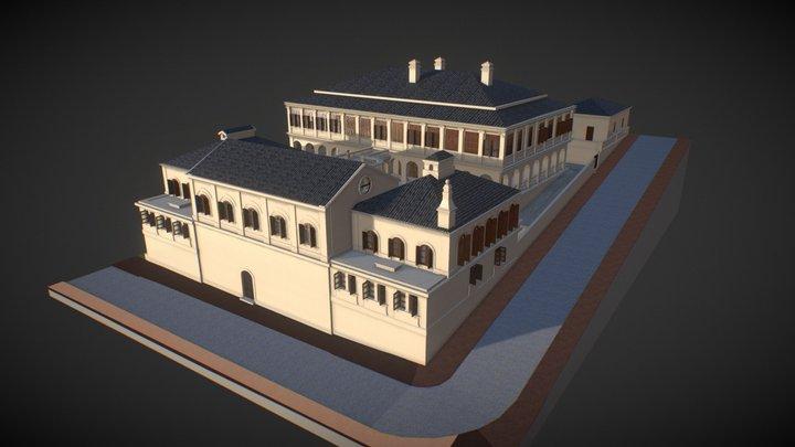 1889 Central School, Gough Street 歌賦街大書院校舍 3D Model