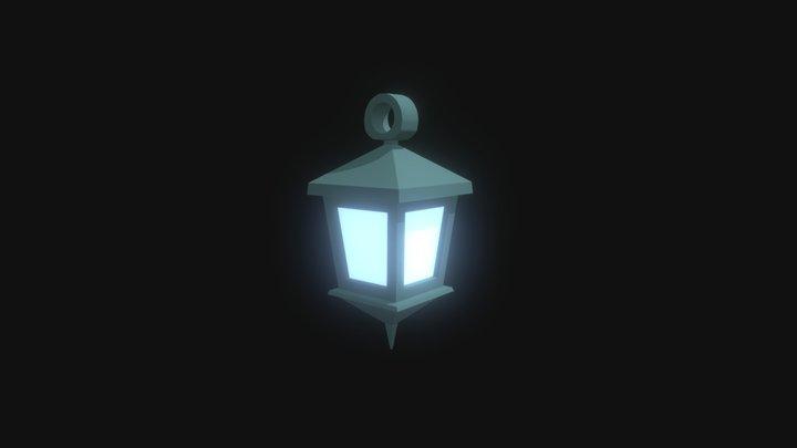 Low Poly Fantasy Lantern 3D Model