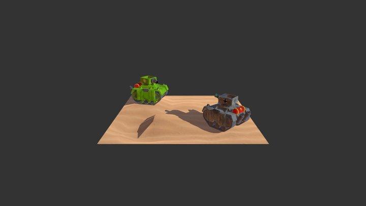 VR Tank Show Case 3D Model