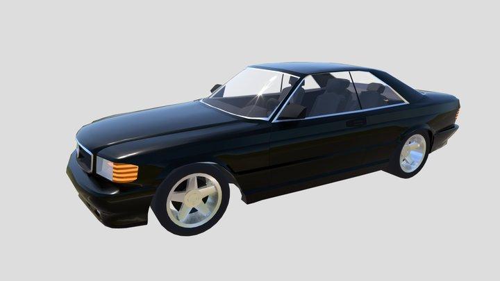 MB W126 sec 3D Model