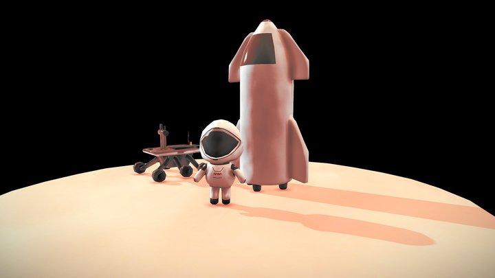 Mars Landing - Luca Naselli 3D Model