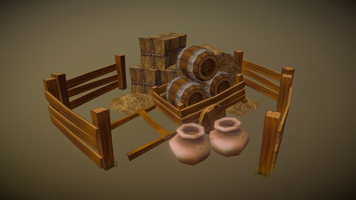 A Peasant's Office 3D Model