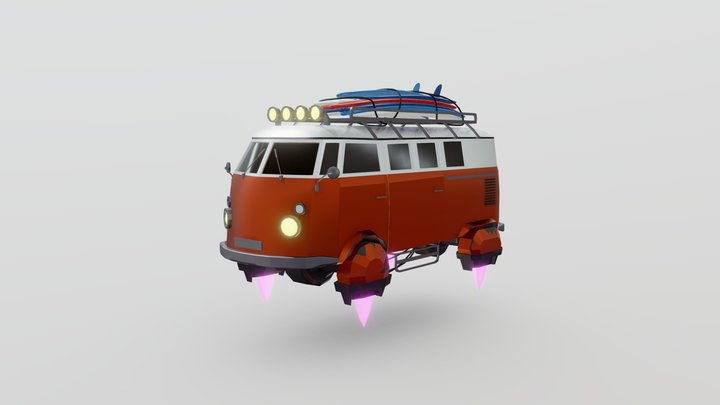 VW BUS T1 3D Model