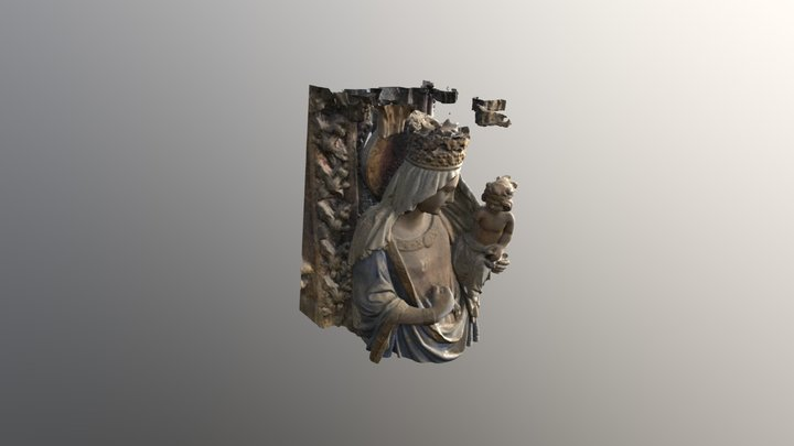 Virgen Santa María 3D Model