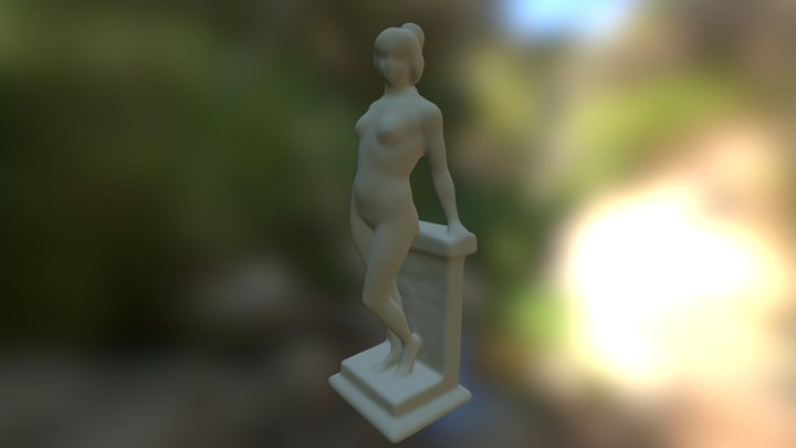 'Athena' Marble Statue Scan 3D Model