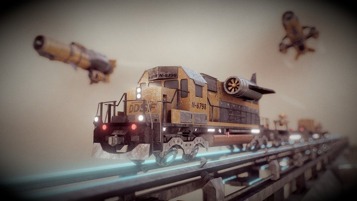 Dieselpunk Challenge - Sky Train 3D Model
