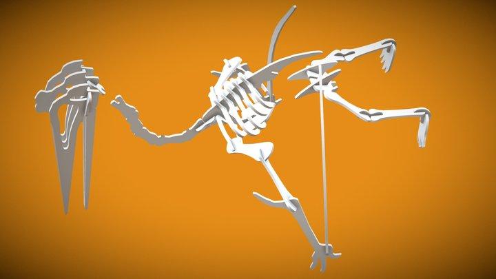 Quetzalcoatlus Pelvis Head 3D Model