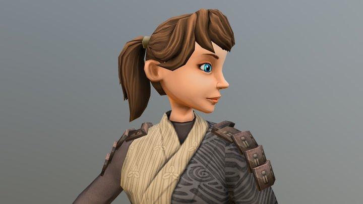 Bow Girl 3D Model