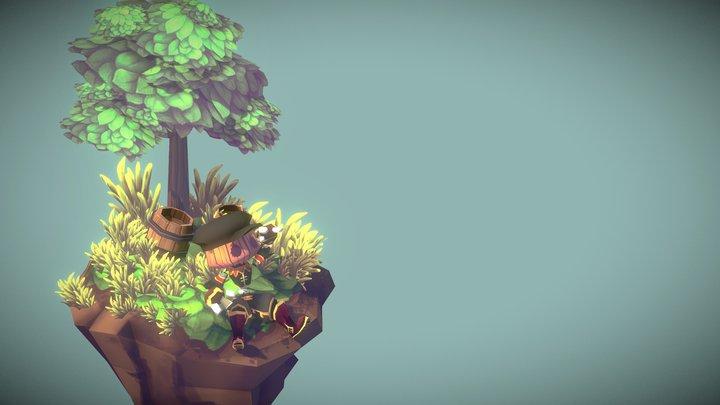 【The Island】 3D Model