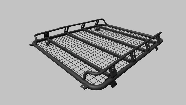 Roof rack F-DESIGN Chevrolet Niva SE под бокс 3D Model