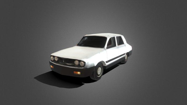 Low Poly Renault 12 3D Model