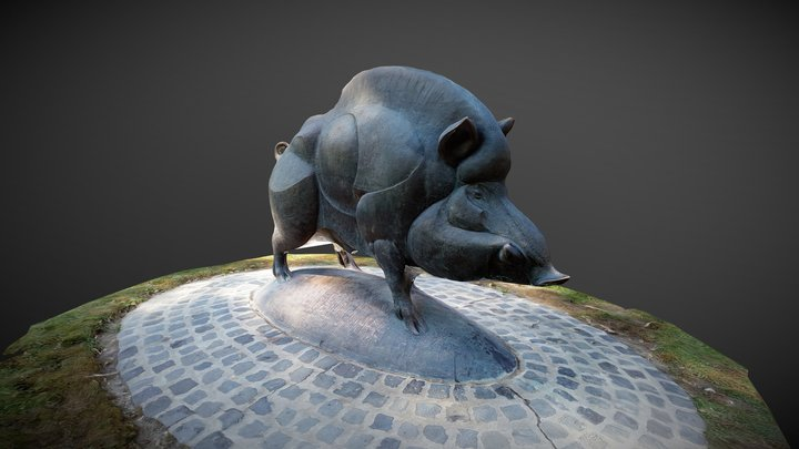 Vadkan szobor 3D Model