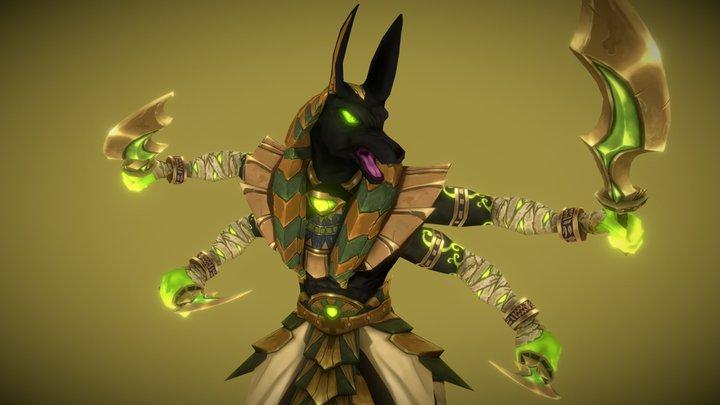 Anubis Boss - Handpainted Lowpoly 3D Model