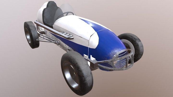 Number 67 Higman Special, USAC Midget Race Car 3D Model