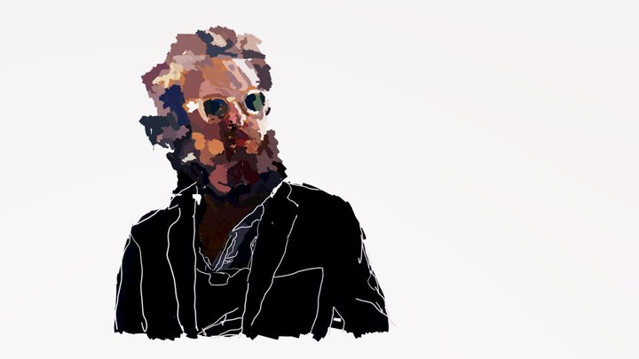 Father John Misty Fan Art 3D Model