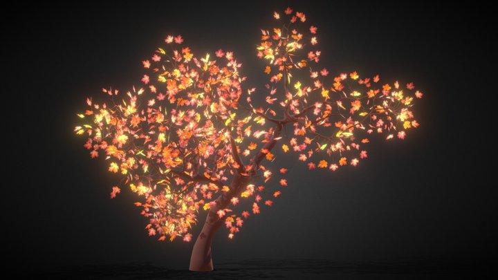 Autumn Maple tree - Árbol de Arce en Otoño 3D Model