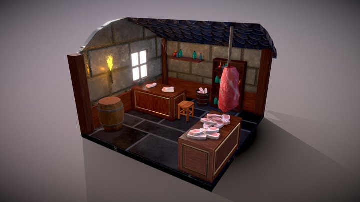 Butchers Shop 3D Model