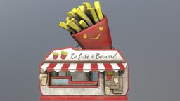 French fries shop: La frite à bernard 3D Model