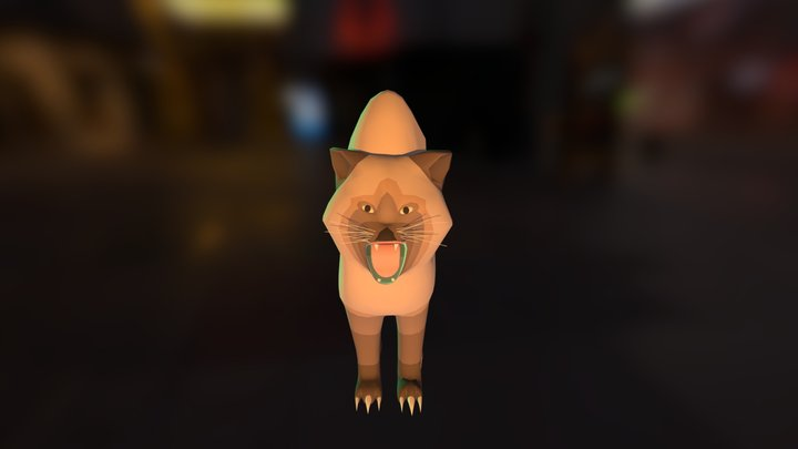 cat angry 3D Model
