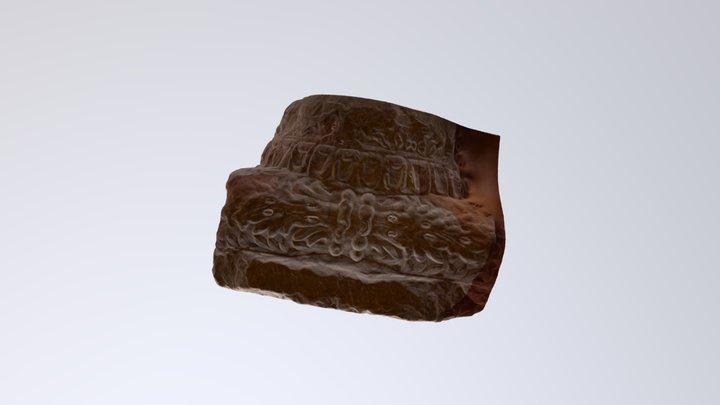 Capitel de columna jónico 3D Model