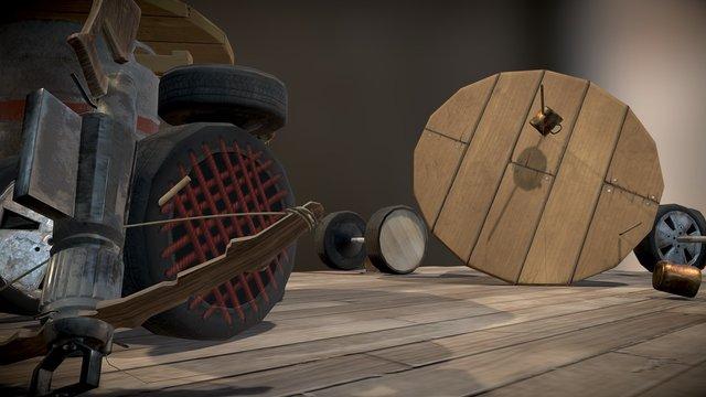 Postapokalyptische Bar Scene 3D Model