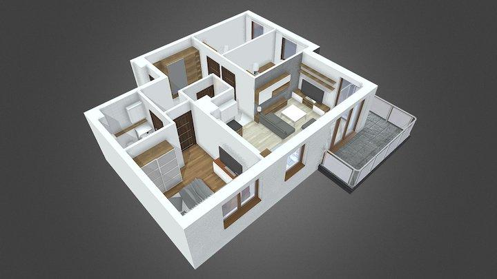 Andersena - mieszkanie 09 3D Model