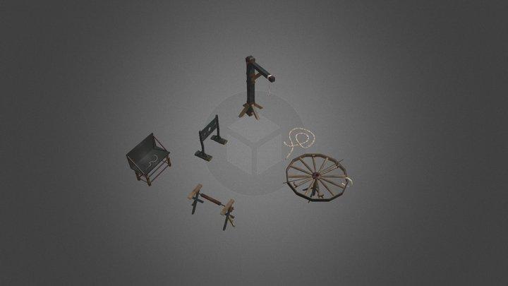 objet salle de torture et autre 3D Model