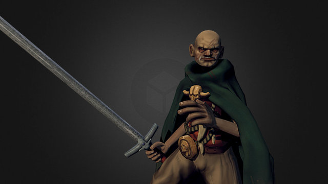 Old Dragon Slayer 3D Model