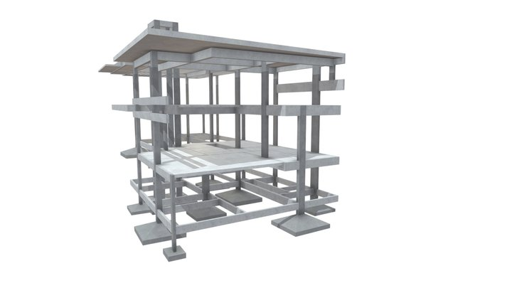 Projeto Estrutural Residencial 12 3D Model