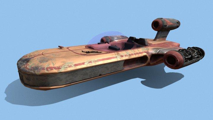 Star Wars - Luke's X-34 Landspeeder 3D Model
