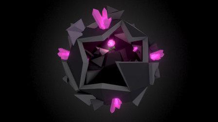 Lowpoly planet - The last flower 3D Model