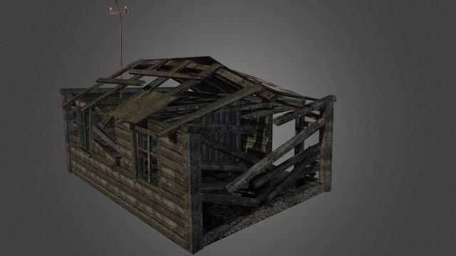 Burnt House 3D Model