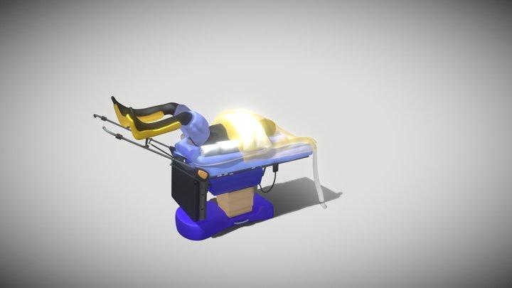 medical surgery bed 3D Model